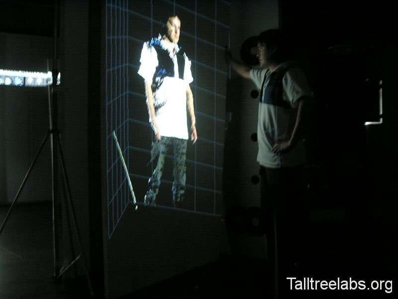 projecting scan results life size