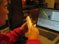 Controlling object with WII-mote 2